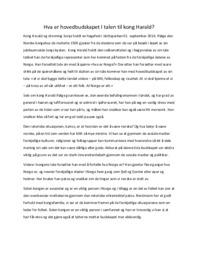 Hva er hovedbudskapet I talen til kong Harald | Norsk oppgave