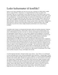 Leder kulturmøter til konflikt | Norsk oppgave