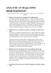 Analyse av Hajj | Finn dimensjonene