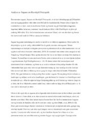 Analyse av Sagaen om Ravnkjell Frøysgode