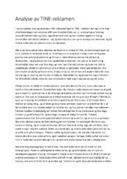 Analyse av TINE-reklamen | 6 i karakter
