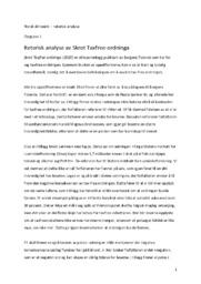 Retorisk analyse av Skrot Taxfree-ordninga | 6 i karakter
