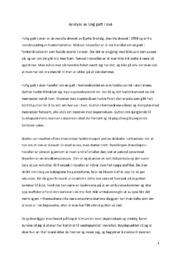 Analyse av Ung gutt i snø | 5 i karakter