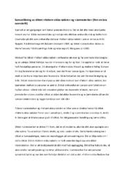 Samanlikning av diktet fattern elska rødvin og Jamnsterke | Analyse