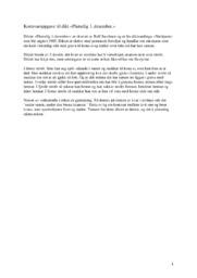 Kortsvaroppgave til dikt | Plutselig 1. desember | Analyse