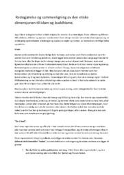 Redegjørelse og sammenligning av den etiske dimensjonen til islam og buddhisme