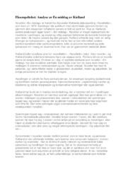 Analyse av En middag av Kielland | 5 i karakter