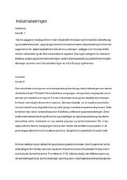 Industrialiseringen | Opggave | 5 i karakter