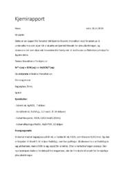 Kjemisk likevekt | Forsøk | 5 i karakter