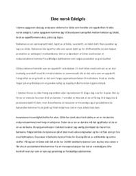 'Ekte norsk Edelgris' | Retorisk analyse | 5 i karakter