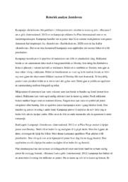 Jenteloven | Retorisk analyse | 5 i karakter