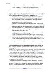 Varner gruppen | Segmenteringskriterier | Oppgave