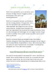 Sabal palmetræer | Biologi oppgave | 5 i karakter