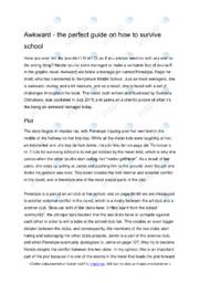 'Awkward' | Analytical essay | 6 i karakter