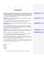 'The Three-Day Blow' | Analytical essay | 5 i karakter