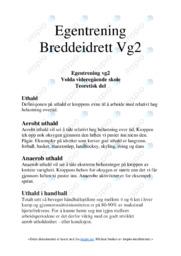 Egentrening | Breddeidrett | 6 i karakter