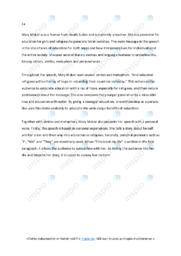 Mary Maker Speech Analysis | Short answer | 6 i karakter