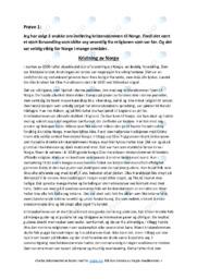 Kristning av Norge |Oppgave | 5 i karakter
