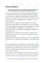 Verdenskrigene | Oppgave | 6 i karakter
