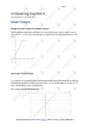 Lineær Funksjon | Oppgaver | 5 i karakter