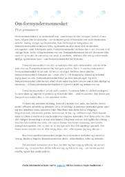 Formyndermennesket | Oppgave | 5 i karakter