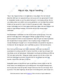 'Håp er vilje, håp er handling' | Analyse | 5 i karakter