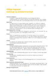 Sosiologi | Viktige begreper