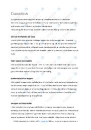 Cubakrisen | Oppgave | 5 i karakter