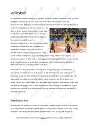 Volleyball | Oppgave | 5 i karakter