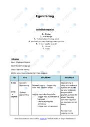 Egentrening | Oppgave | 6 i karakter
