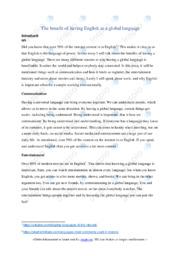 English as a national language | 6 i karakter | Kopi