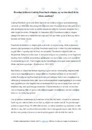Ludwig Feuerbach religion | Oppgave | 5 i karakter