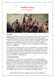 Norrøn Litteratur | Oppgave | 5 i karakter
