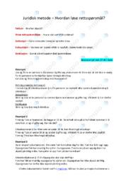 Juridisk metode | Oppgave | 5 i karakter
