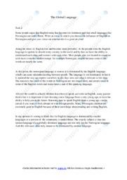 The Global Language | Essay | 5 i karakter