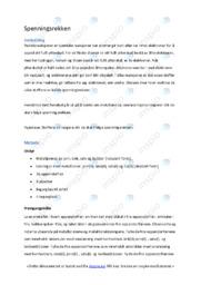 Naturfag | Rapport spenningsrekken | 5 i karakter