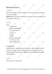 Rapport | Galvanisk element | 5 i karakter